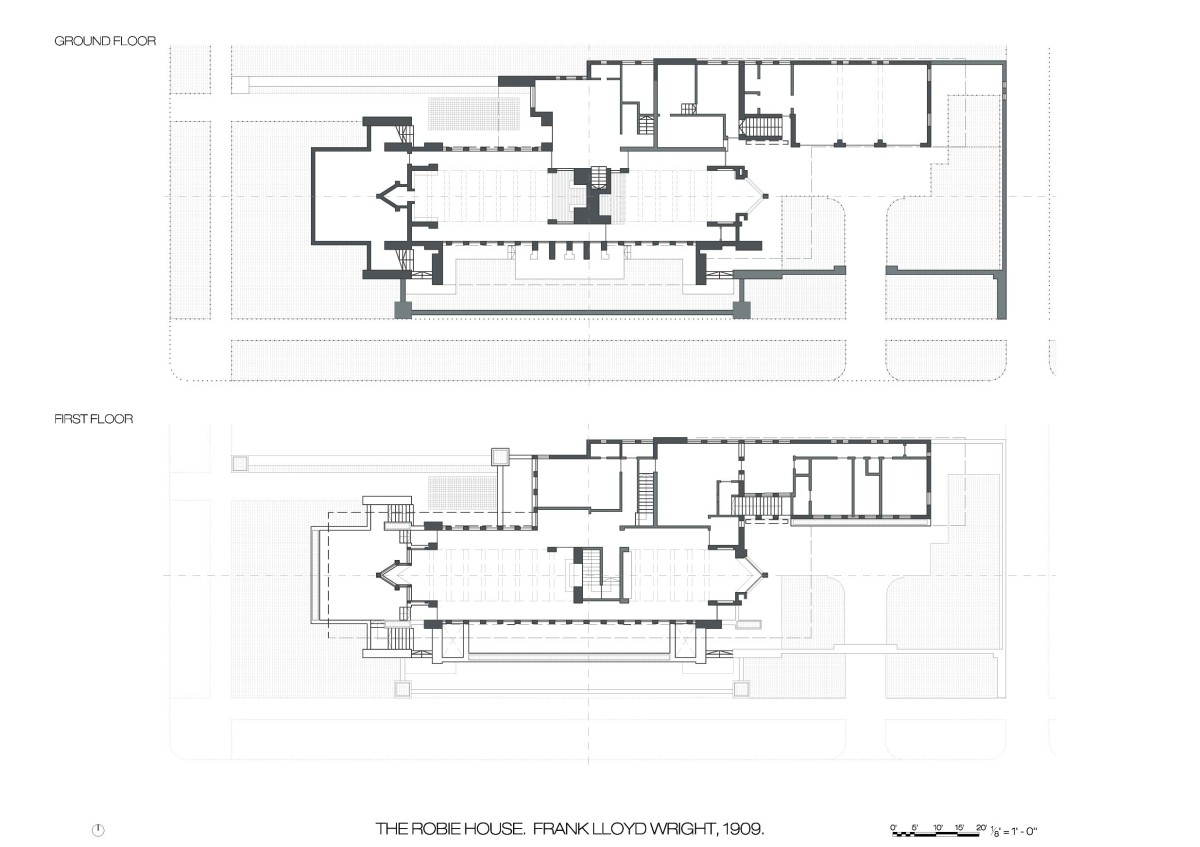 Robie house floor plans cristina olucha Frank lloyd wright house floor plans