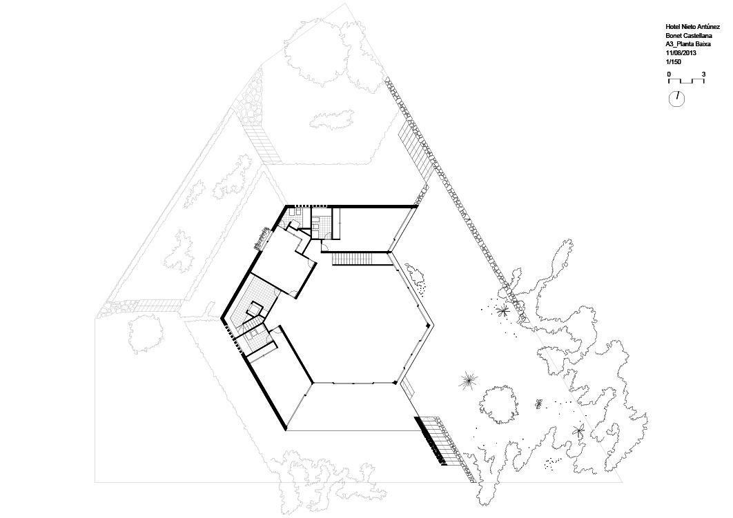 Nieto Antúnez house, Salou, drawing, casa, plano